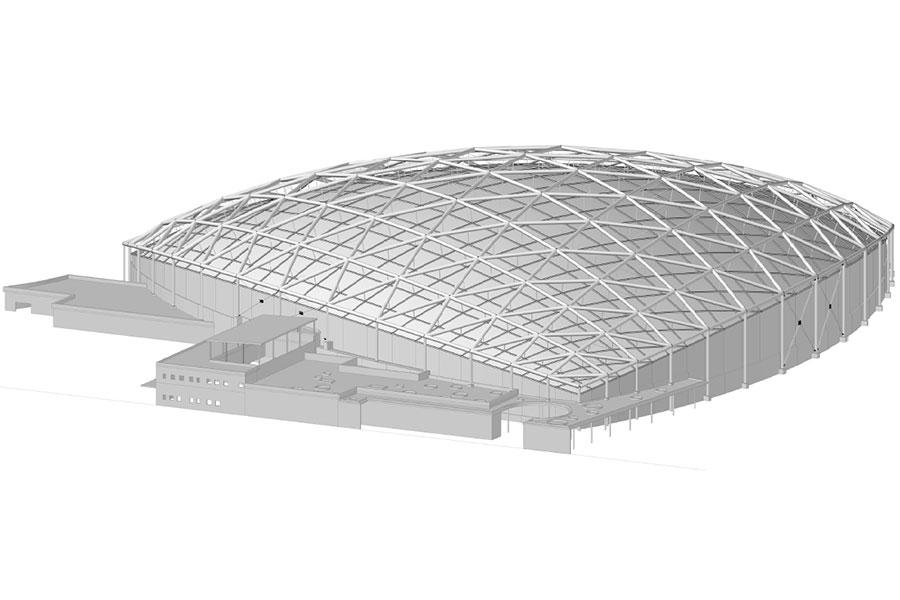 Modell des Gesamtbauwerkes