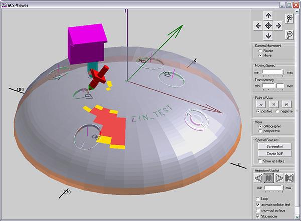 Simulation Schnitt Behälterboden